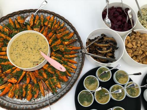 Autumnal lunch at OmVed